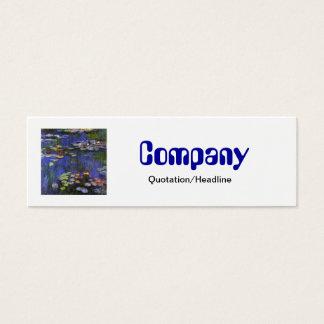 Monet Waterlilies Skinny Business Card