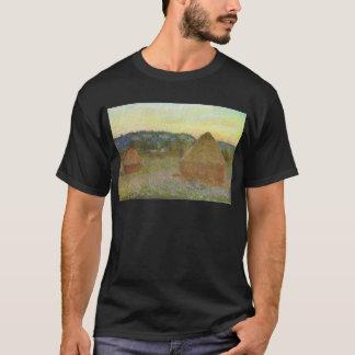 Monet - Wheatstacks Classic Painting T-Shirt