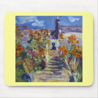Monet With Lab Mouse Pad