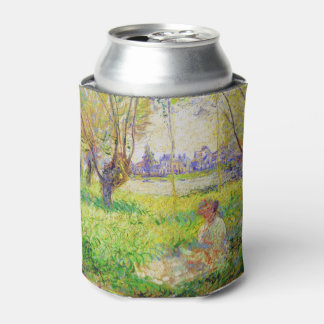 Monet Woman Seated Under The Willows Fine Art Can Cooler