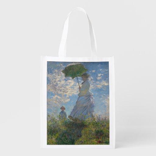 Monet Woman With a Parasol Fine Art Market Tote