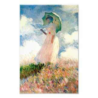 Monet Woman With A Parasol Print