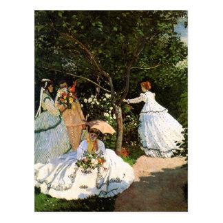 Monet Women in the Garden Postcard