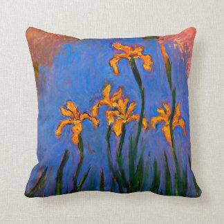 Monet- Yellow Irises Cushion