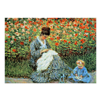 Monet's Famous Painting: Camille Monet and Child Poster