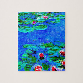 Monet's famous painting, Water Lilies (macro view) Jigsaw Puzzle