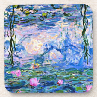 Monet's famous Water Lilies (pink) Coaster