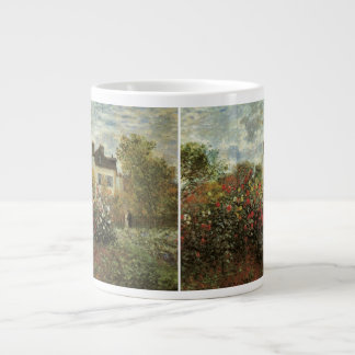 Monet's Garden at Argenteuil by Claude Monet Large Coffee Mug