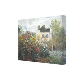 Monet's Garden at Argenteuil Wrapped Canvas Gallery Wrapped Canvas