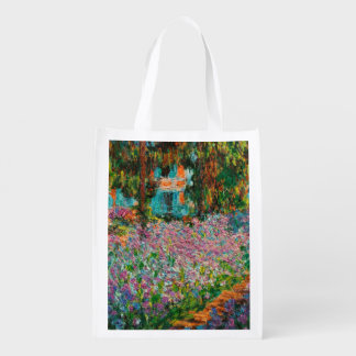 Monets Garden At Giverny Reusable Grocery Bag