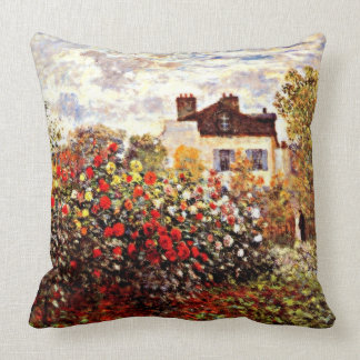 Monet's Garden in Argenteuil Cushion