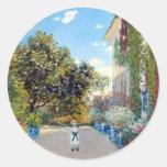 Monet's Garden Round Sticker