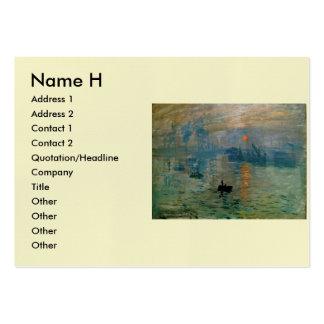 Monet's Impression Sunrise (soleil levant) - 1872 Business Cards