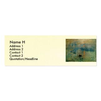 Monet's Impression Sunrise (soleil levant) - 1872 Pack Of Skinny Business Cards