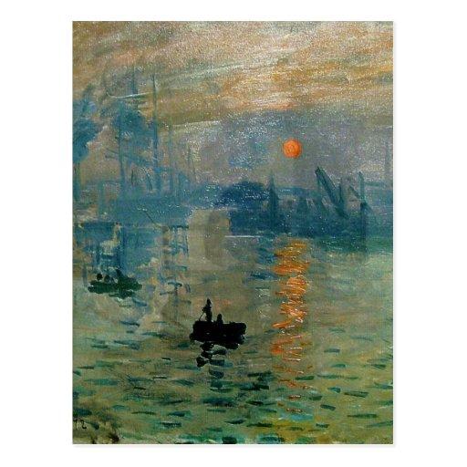 Monet's Impression Sunrise (soleil levant) - 1872 Post Card