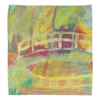 Monet's Japanese Bridge Bandanas
