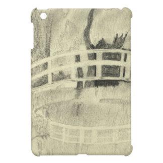 Monet's Japanese Bridge- Black and White iPad Mini Case