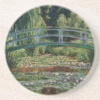 Monet's Japanese Bridge over Water Lily Pond Coaster