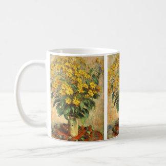 Monet's Jerusalem Artichokes Basic White Mug