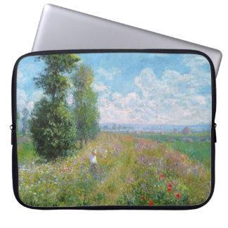 Monet's Meadow with Poplars - Laptop sleeve