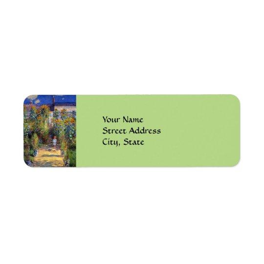 Monet's, The Artist's Garden at Vetheuil Return Address Label
