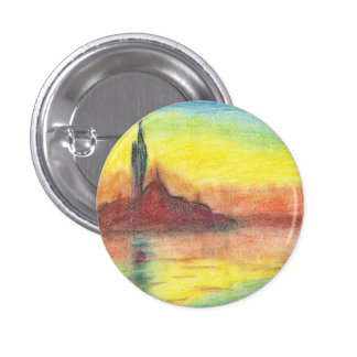 Monet's Twilight, Venice 3 Cm Round Badge