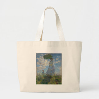 Monet's Woman with a parasol Large Tote Bag