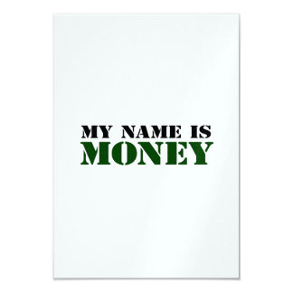Money 9 Cm X 13 Cm Invitation Card