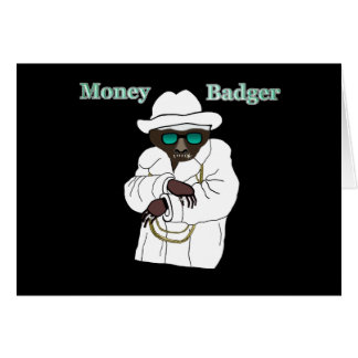 Money Badger Greeting Card