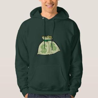 Money Bags; Green Sweatshirt