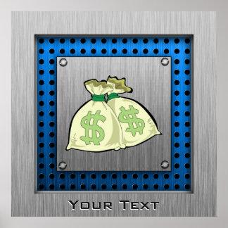 Money Bags; Metal-look Print