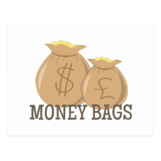 Money Bags Postcard
