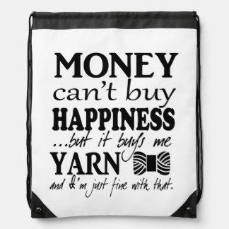 Money Can't Buy Happiness – Crafts/Yarn Rucksacks