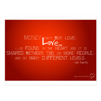 Money Can't Buy Love Postcard
