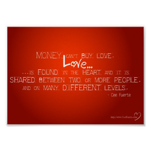 Money Can't Buy Love Poster