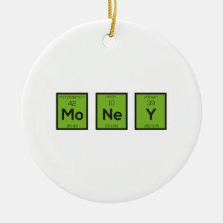 Money Chemical Element Funny Z3z08 Round Ceramic Decoration