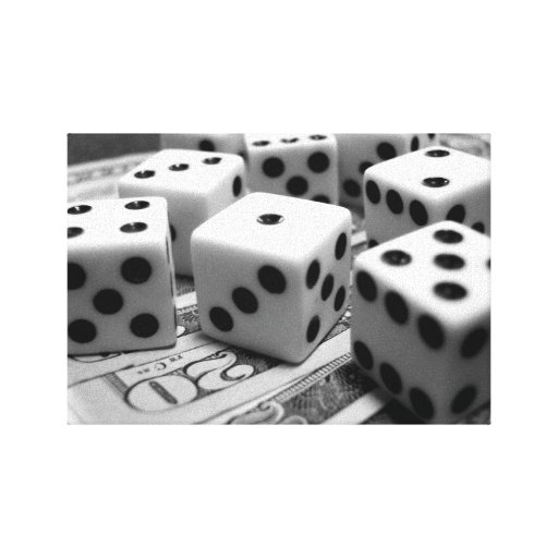 Money Dice Gallery Wrapped Canvas
