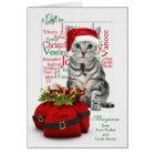 Money Enclosed Christmas Tabby Cat Card