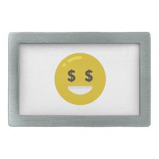 money eye emoji belt buckles