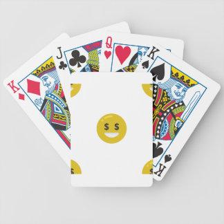 money eye emoji bicycle playing cards