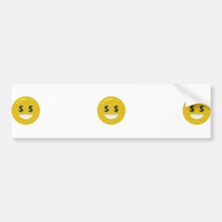money eye emoji bumper sticker