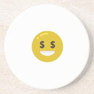 money eye emoji coaster
