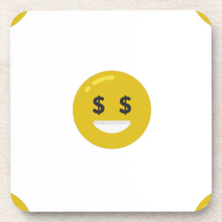 money eye emoji coaster