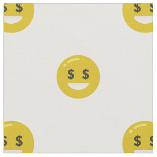 money eye emoji fabric