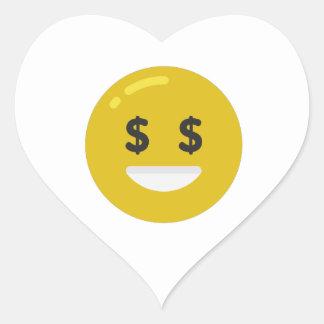 money eye emoji heart sticker