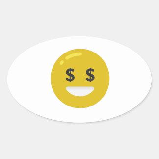 money eye emoji oval sticker