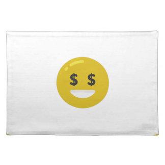 money eye emoji placemat