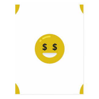 money eye emoji postcard