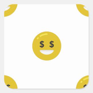 money eye emoji square sticker
