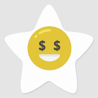 money eye emoji star sticker